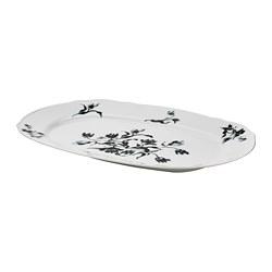 UPPLAGA - serving plate, white/patterned 44x30cm | IKEA Hong Kong and Macau - PE783798_S3