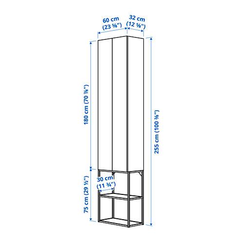 ENHET - 上牆式貯物架組合, white/oak effect | IKEA 香港及澳門 - PE783823_S4