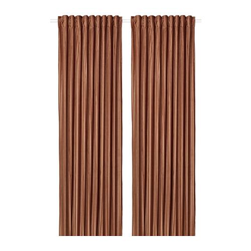 ELDTORN - room darkening curtains, 1 pair, brown | IKEA Hong Kong and Macau - PE783836_S4