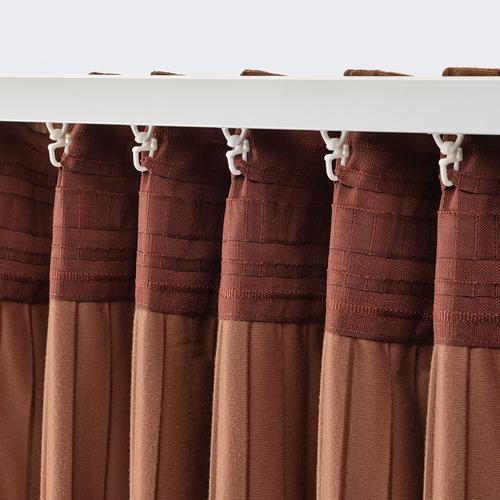 ELDTORN - room darkening curtains, 1 pair, brown | IKEA Hong Kong and Macau - PE783839_S4