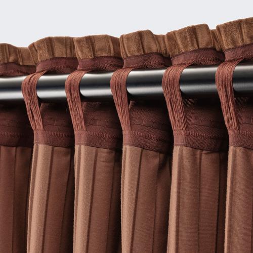 ELDTORN - room darkening curtains, 1 pair, brown | IKEA Hong Kong and Macau - PE783838_S4