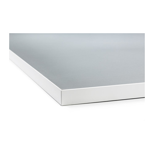 EKBACKEN - worktop, double-sided, light grey/white with white edge | IKEA Hong Kong and Macau - PE513615_S4