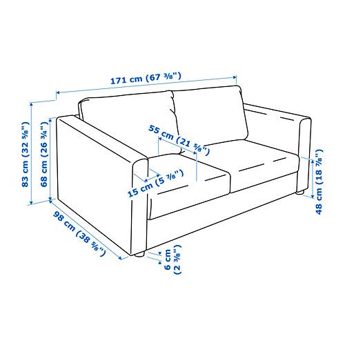 VIMLE - 2-seat sofa, Hallarp grey | IKEA Hong Kong and Macau - PE729951_S4