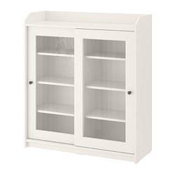 HAUGA - glass-door cabinet, white | IKEA Hong Kong and Macau - PE783849_S3
