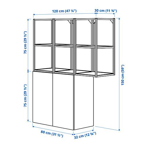 ENHET - 上牆式貯物架組合, anthracite/grey frame | IKEA 香港及澳門 - PE783868_S4