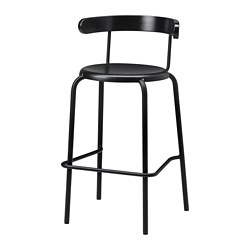 YNGVAR - 高腳凳, 炭黑色 | IKEA 香港及澳門 - PE729999_S3