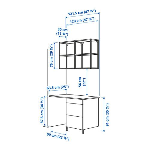 ENHET - 上牆式貯物架組合, anthracite/concrete effect | IKEA 香港及澳門 - PE783871_S4