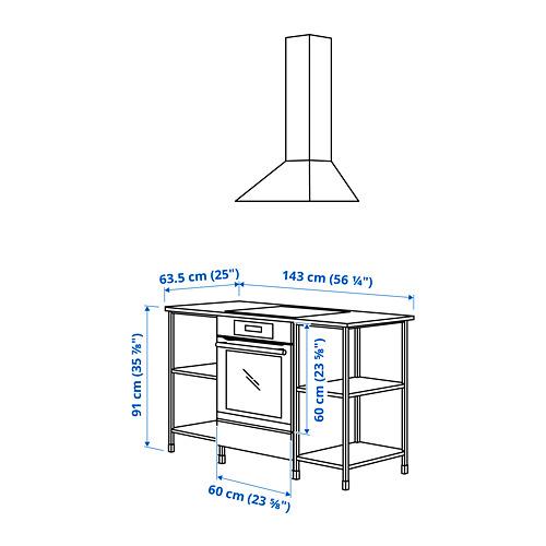 ENHET - 焗爐/爐具用貯物組合, anthracite/concrete effect | IKEA 香港及澳門 - PE783873_S4