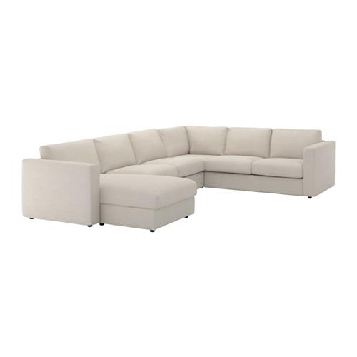 VIMLE cover for corner sofa, 5-seat