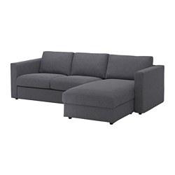 VIMLE - 3-seat sofa, with chaise longue/Gunnared medium grey | IKEA Hong Kong and Macau - PE639437_S3