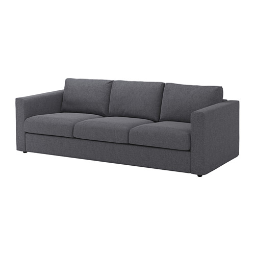 VIMLE - cover for 3-seat sofa, Gunnared medium grey | IKEA Hong Kong and Macau - PE639441_S4