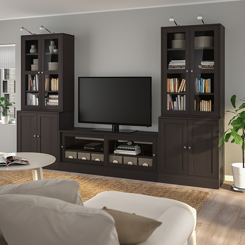 HAVSTA TV storage combination/glass doors