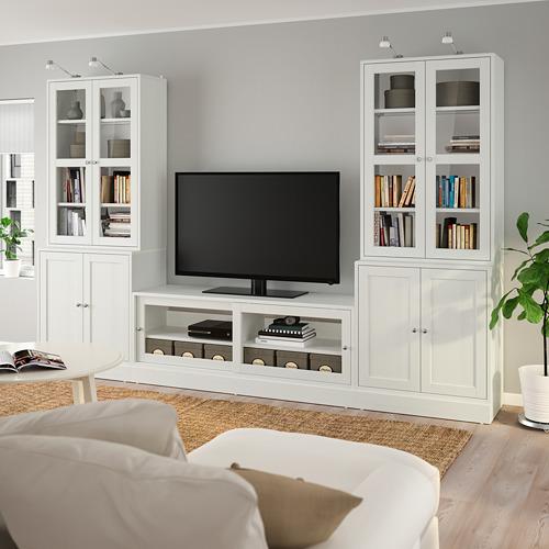 HAVSTA - 電視貯物組合/玻璃門, 白色 | IKEA 香港及澳門 - PE783944_S4