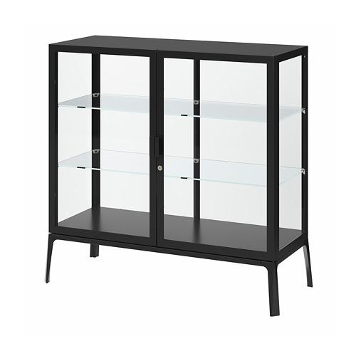 MILSBO - 玻璃門貯物櫃, 炭黑色 | IKEA 香港及澳門 - PE783959_S4