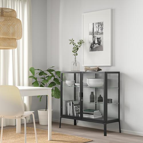 MILSBO - 玻璃門貯物櫃, 炭黑色 | IKEA 香港及澳門 - PE783960_S4