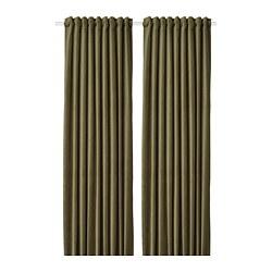 SANELA - 半遮光窗簾,一對, 橄欖綠色 | IKEA 香港及澳門 - PE772587_S3