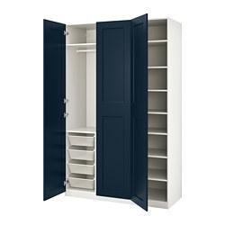PAX/GRIMO - 衣櫃組合, 白色/Grimo 深藍色 | IKEA 香港及澳門 - PE783999_S3