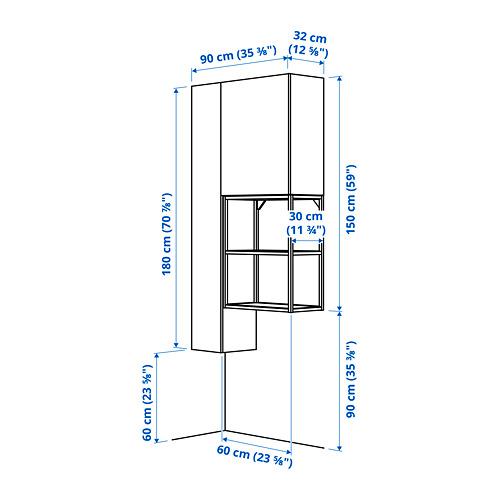 ENHET - storage combination for laundry, anthracite/white | IKEA 香港及澳門 - PE784011_S4