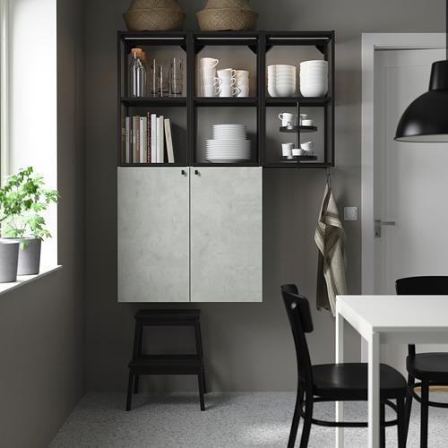 ENHET - 上牆式貯物架組合, anthracite/concrete effect | IKEA 香港及澳門 - PE784023_S4