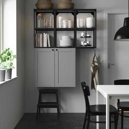 ENHET - 上牆式貯物架組合, anthracite/grey frame | IKEA 香港及澳門 - PE784024_S4