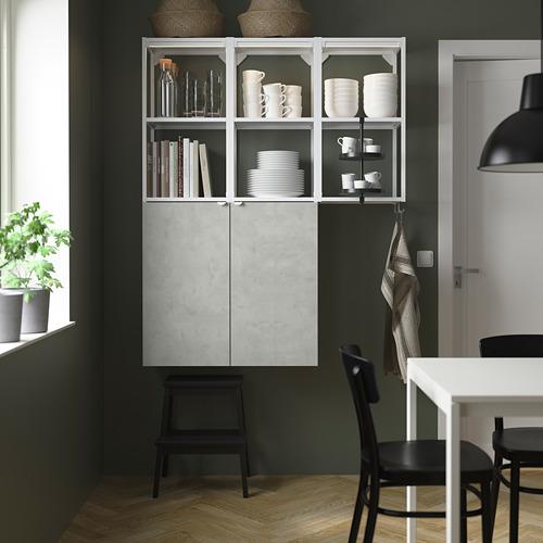 ENHET - 上牆式貯物架組合, white/concrete effect | IKEA 香港及澳門 - PE784027_S4
