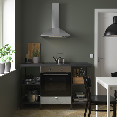ENHET - 焗爐/爐具用貯物組合, anthracite/concrete effect | IKEA 香港及澳門 - PE784036_S4
