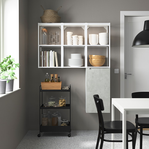 ENHET - storage combination for laundry, white/concrete effect | IKEA 香港及澳門 - PE784050_S4
