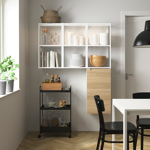 ENHET - storage combination for laundry, white/oak effect | IKEA 香港及澳門 - PE784051_S4