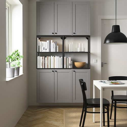 ENHET - 上牆式貯物架組合, anthracite/grey frame | IKEA 香港及澳門 - PE784044_S4