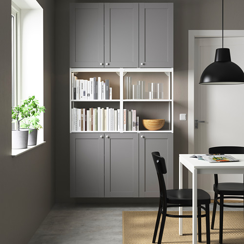 ENHET - 上牆式貯物架組合, white/grey frame | IKEA 香港及澳門 - PE784054_S4