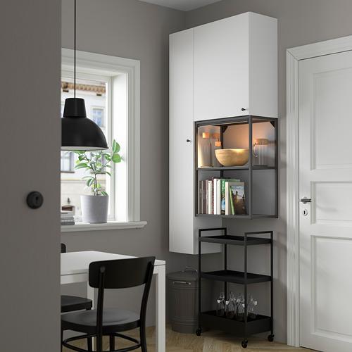 ENHET - storage combination for laundry, anthracite/white | IKEA 香港及澳門 - PE784063_S4