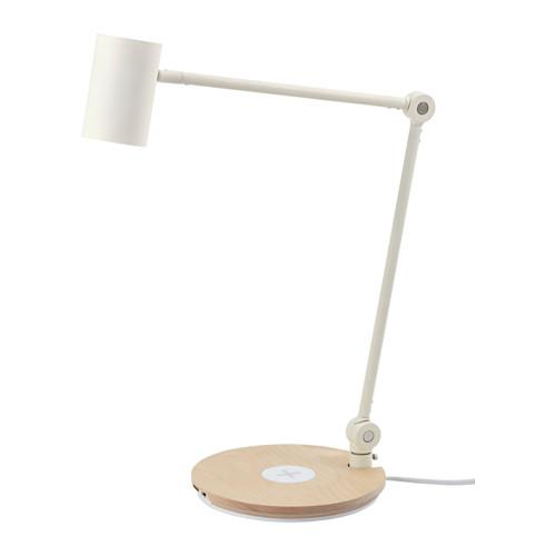 RIGGAD - LED工作燈連無線充電座, 白色   IKEA 香港及澳門 - PE514214_S4