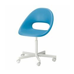 BLYSKÄR/ELDBERGET - 旋轉椅, 藍色/白色 | IKEA 香港及澳門 - PE772651_S3