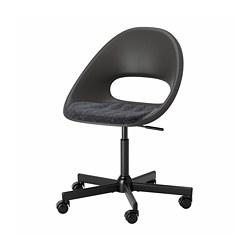 MALSKÄR/ELDBERGET - 旋轉椅連椅墊, 黑色/深灰色 | IKEA 香港及澳門 - PE772659_S3