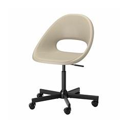MALSKÄR/ELDBERGET - 旋轉椅, 米黃色/黑色 | IKEA 香港及澳門 - PE772637_S3