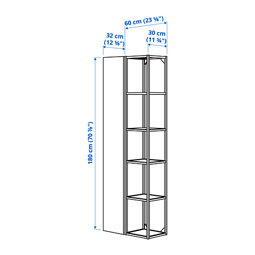 ENHET - 上牆式貯物架組合, anthracite/white | IKEA 香港及澳門 - PE784078_S4