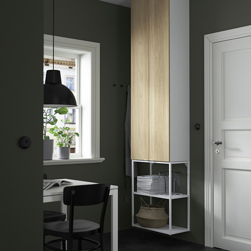 ENHET - 上牆式貯物架組合, white/oak effect | IKEA 香港及澳門 - PE784104_S4