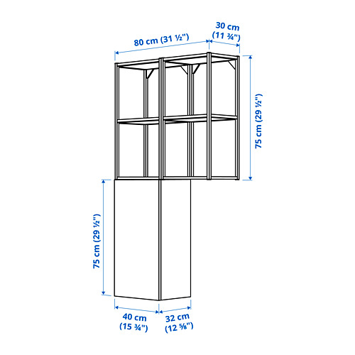 ENHET - 上牆式貯物架組合, anthracite/white | IKEA 香港及澳門 - PE784111_S4