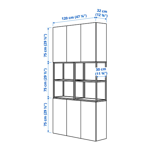 ENHET - 上牆式貯物架組合, anthracite/grey frame | IKEA 香港及澳門 - PE784117_S4