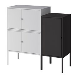 LIXHULT - cabinet combination, grey/anthracite | IKEA Hong Kong and Macau - PE784144_S3