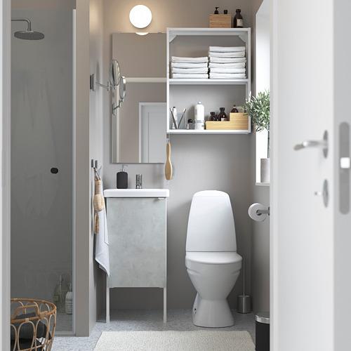TVÄLLEN/ENHET - bathroom furniture, set of 10, concrete effect/white Pilkån tap | IKEA Hong Kong and Macau - PE784169_S4