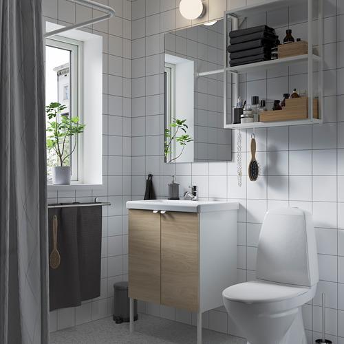TVÄLLEN/ENHET - bathroom furniture, set of 11, oak effect/white Pilkån tap   IKEA Hong Kong and Macau - PE784177_S4