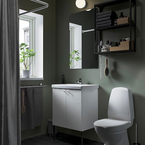TVÄLLEN/ENHET - bathroom furniture, set of 11, white/anthracite Pilkån tap | IKEA Hong Kong and Macau - PE784178_S4