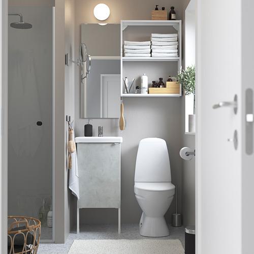 TVÄLLEN/ENHET - bathroom furniture, set of 10, concrete effect/white Pilkån tap | IKEA Hong Kong and Macau - PE784198_S4