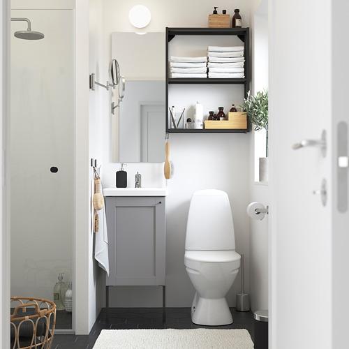 TVÄLLEN/ENHET - 浴室貯物組合 10件裝, grey frame/anthracite Lillsvan tap | IKEA 香港及澳門 - PE784192_S4