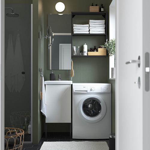 TVÄLLEN/ENHET - 浴室貯物組合 10件裝, 白色/炭黑色 PILKÅN水龍頭 | IKEA 香港及澳門 - PE784195_S4