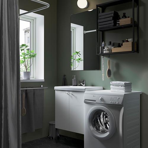 TVÄLLEN/ENHET - bathroom furniture, set of 11, white/anthracite Pilkån tap | IKEA Hong Kong and Macau - PE784188_S4