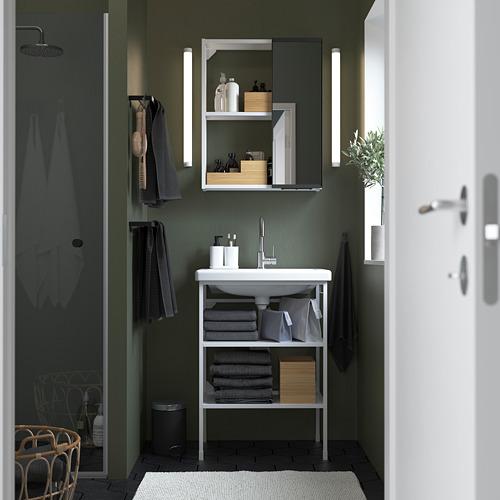 TVÄLLEN/ENHET - 浴室貯物組合 9件裝, white/Glypen tap | IKEA 香港及澳門 - PE784200_S4