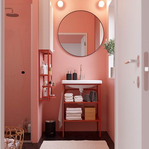 TVÄLLEN/ENHET - 浴室貯物組合 13件裝, red-orange/white Glypen tap   IKEA 香港及澳門 - PE784203_S4