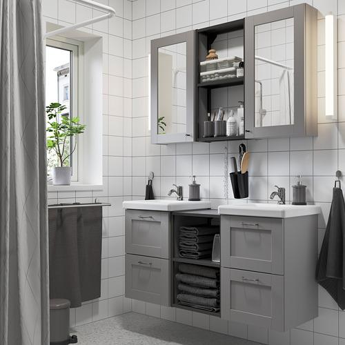 TVÄLLEN/ENHET - 浴室貯物組合 22件裝, grey frame/anthracite Pilkån tap | IKEA 香港及澳門 - PE784205_S4